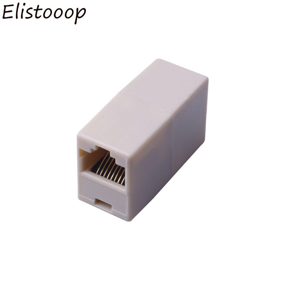5 pces conector adaptador rj45 cat5 8p8c soquete conector acoplador para extensão rede ethernet de banda larga