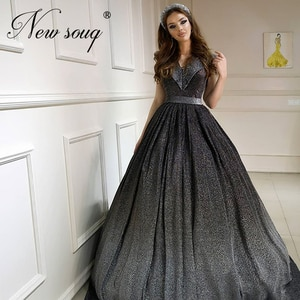 Middle East Newest Long Evening Dresses 2020 Special Fabric V neck Formal Celebrity Gowns Robe De Soiree Custom Prom Dress Aibye