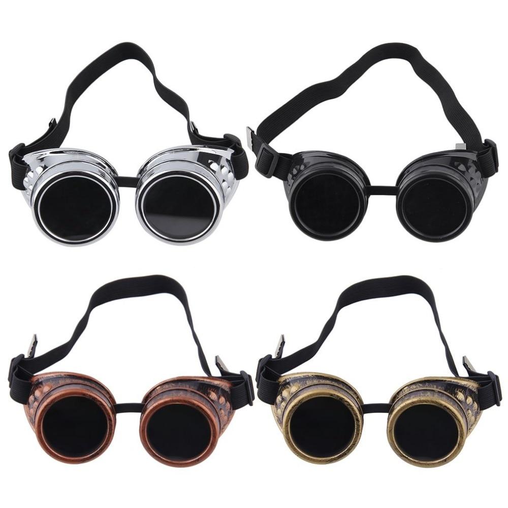 Corpo Massagem Facial Massagem Corporal Soldagem de Cyber Goggles Steampunk Óculos Retro Vintage óculos de Sol 2018 de Moda Do Punk Gótico