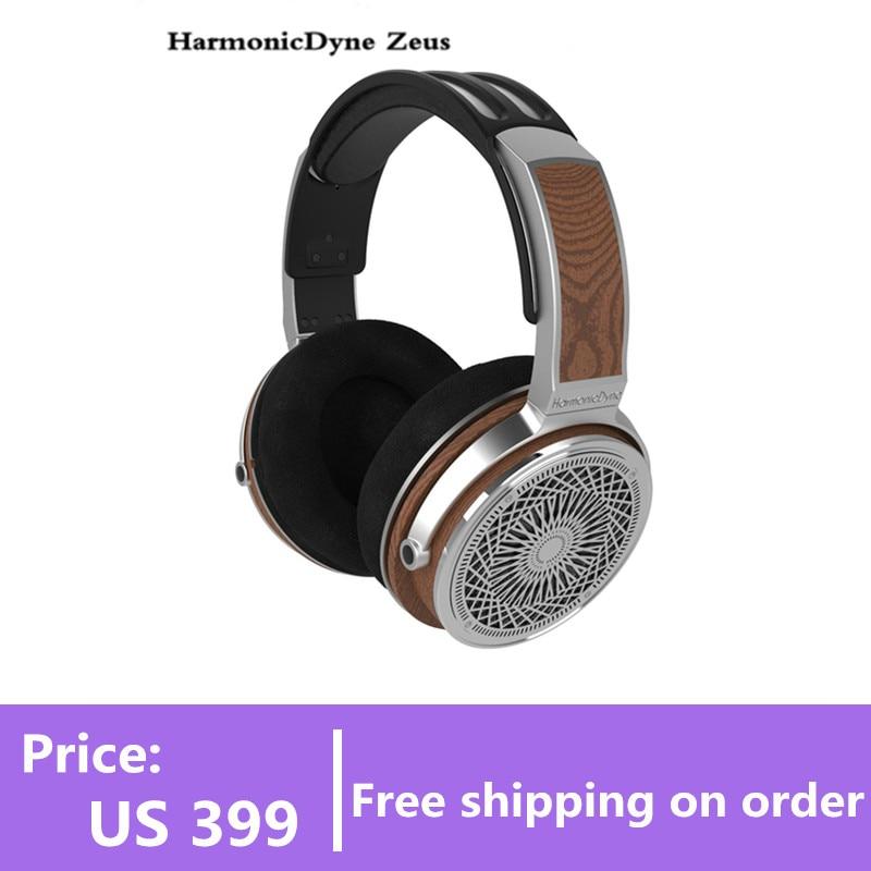 هارمونيكداين زيوس سماعة فوق السماعة الصوتية 50 مللي متر مراقب الموسيقى الديناميكي Hifi موسيقي موسيقي صوتي ستريو MMCX
