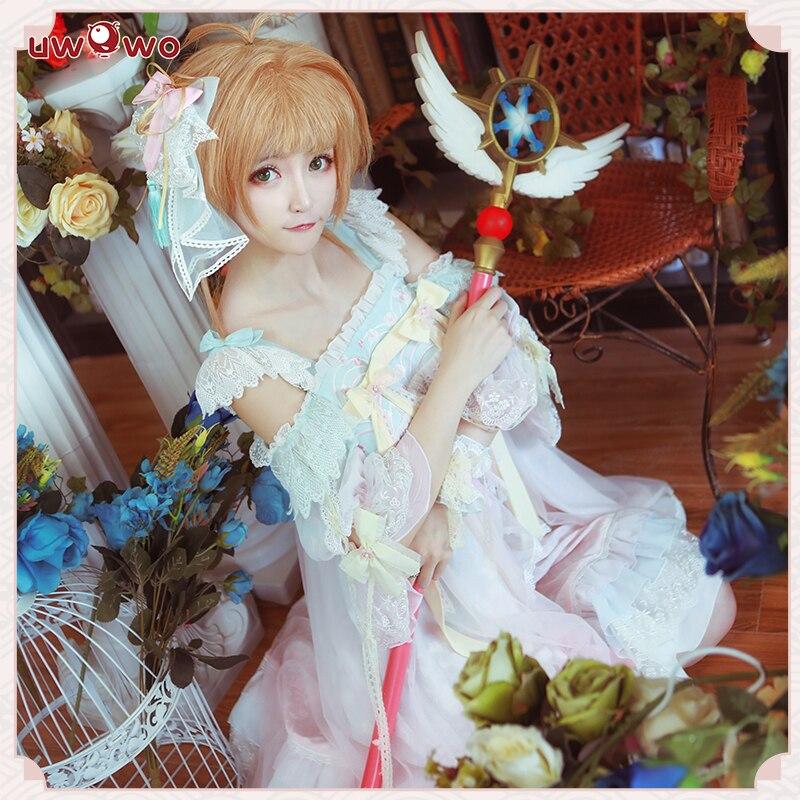 Uwowo Heißer Anime Cosplay Kostüm Für Frauen Sakura Karte Captor Cosplay Kinomoto Sakura Doujin Kleid Lolita Party Kleid