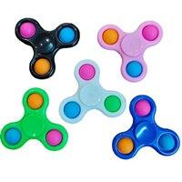 Кончик пальца руки Gyro треугольный Спиннер для пальцев, цветной Прядильщик игрушки, игрушки для снятия стресса