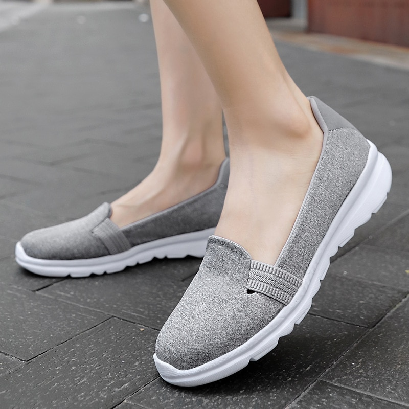 Women Flats Shoes Woman Comfortable Casual Ladies Shoes Sneakers Women Slip-on Ballerina Flats Walking Shoes Zapatillas Mujer 42 forudesigns sketch medical pink print fashion women flats shoes female casual sneakers woman girls comfortable mesh shoes mujer