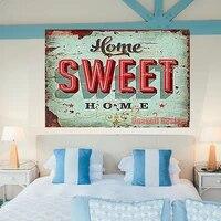 Peinture diamant theme  sweet home   broderie 5d tres populaire  decoration complete carree ou ronde  autocollant mural pour chambre a coucher