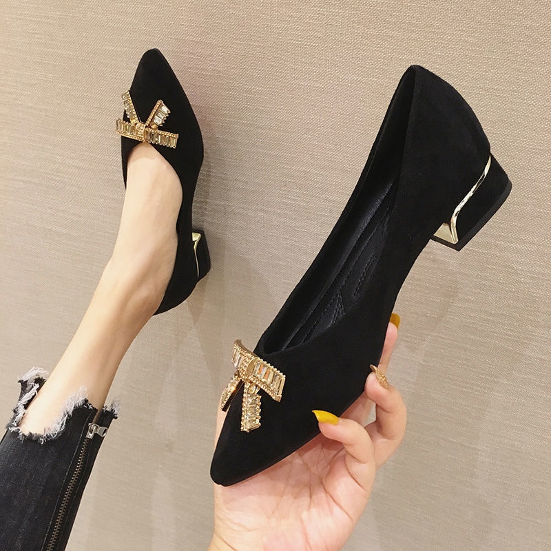 2019 New Women Flats Shoes Spring Woven Leather Pointed Casual Single Ballerina Shallow Mouth