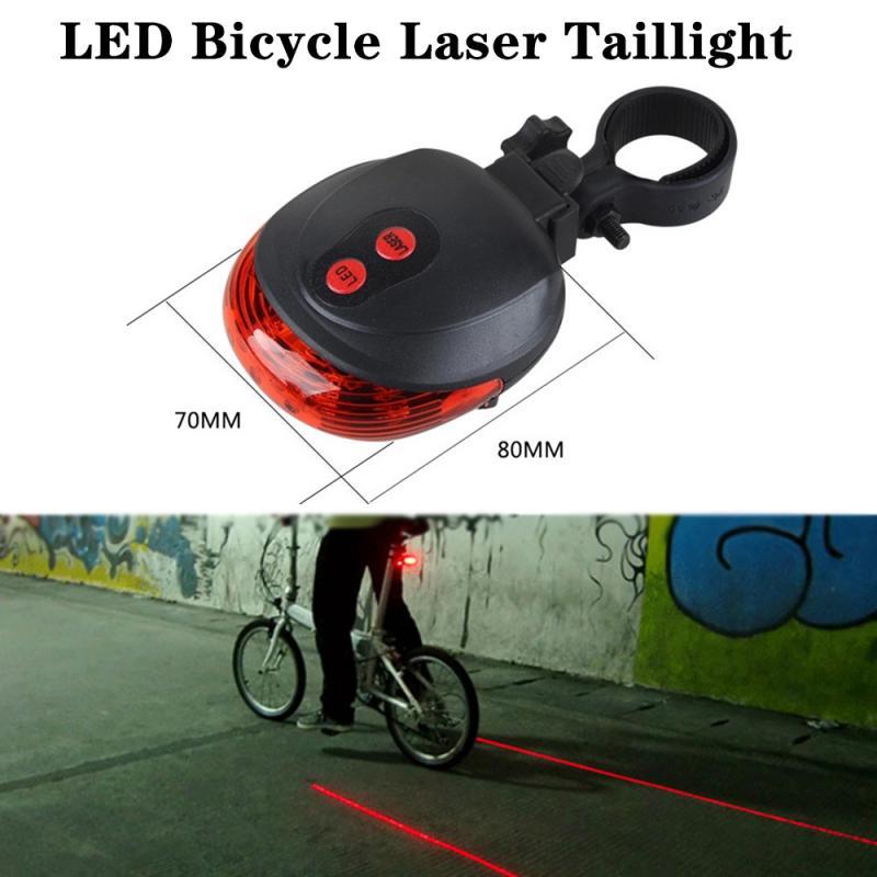 Светодиодный ные велосипедные Лазерные Задние фонари, ночные велосипедные лазерные предупреждающие задние фонари, водонепроницаемость IPX2...