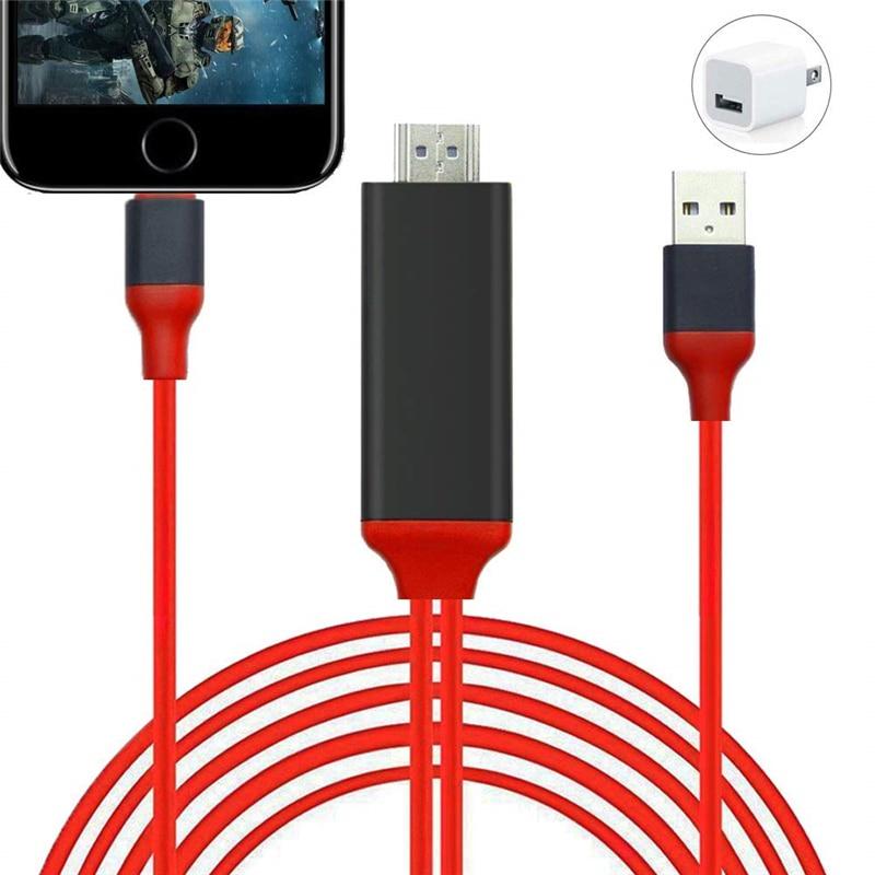 1.8m relâmpago para hdmi adaptador de cabo para apple iphone ipad usb hdmi 1080p tv digital av adaptador de sincronização de tela conector cabo hdtv