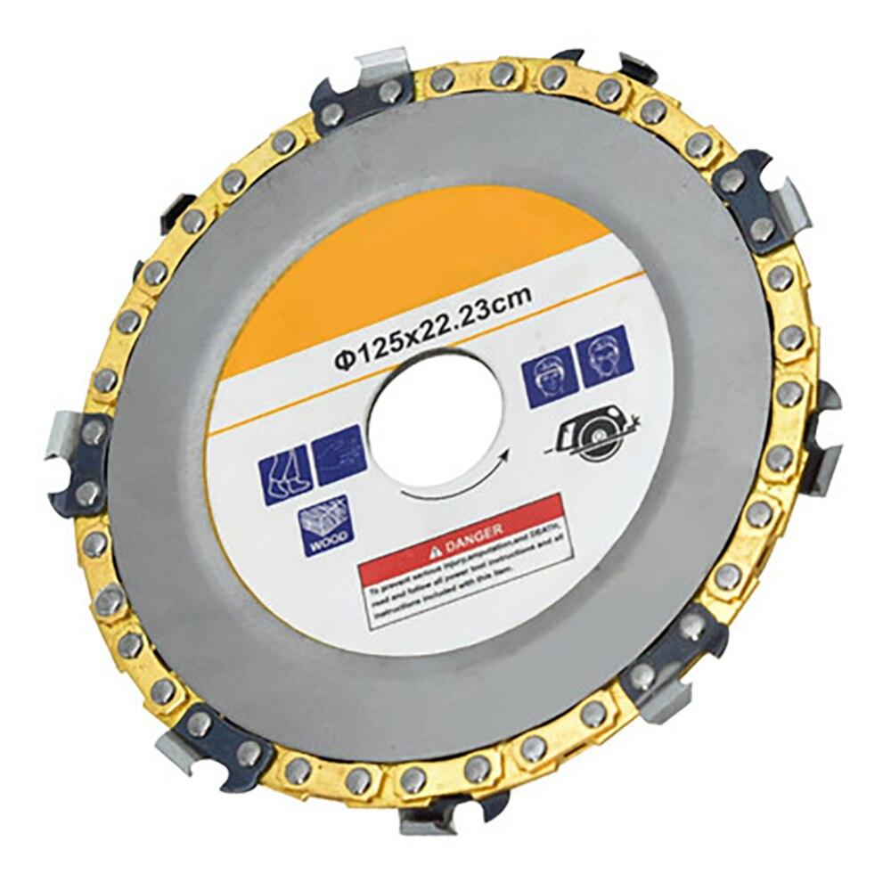 Para amoladora angular de 125x22,23mm, amoladora de 5 pulgadas, disco y cadena de corte abrasivo fino de 14 dientes para amoladora angular de 115x22,23mm