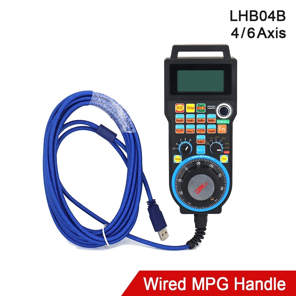 XHC LHB04B Newest Mach3 Wired MPG Pendant Handwheel CNC Controller For 4 / 6 Axis Engraving Machine
