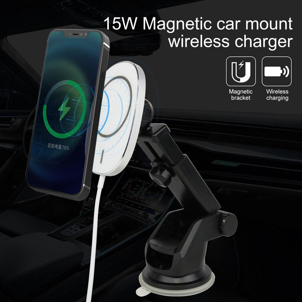 Cargador inalámbrico magnético Magsafe Qi para Coche, montaje para iPhone 12 Pro...