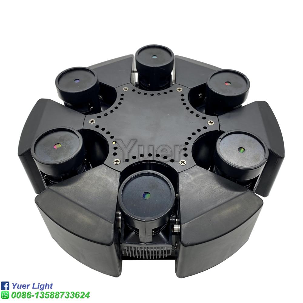Умный 6 Голов Движение Голова Луч Лазер Свет RGB Цветочный Цвет Лазер Свет Проектор Безлимитный Вращающийся Патри Дискотека DJ Лазер Свет