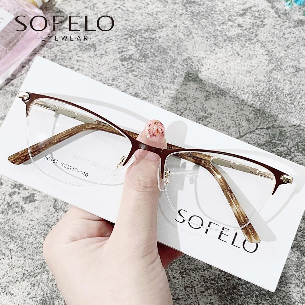 Prescription Glasses Myopia Progressive Eyeglasses For Women Multifocal Bifocal Spectacles Semi Riml