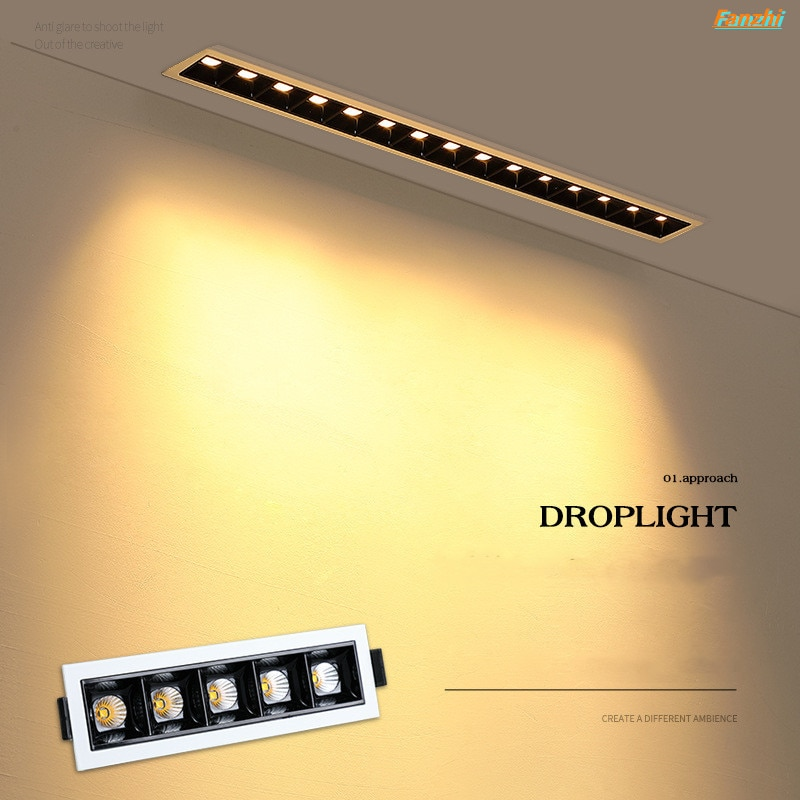 Embedded Creative LED Downlight 20W 10W  4W 2W Line Recessed Lamp 110V 220V Led Bulb Bedroom Kitchen Indoor LED Spot Light