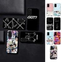 fhnblj kpop hip hop got7 phone case for samsung s10 21 20 9 8 plus lite s20 ultra 7edge