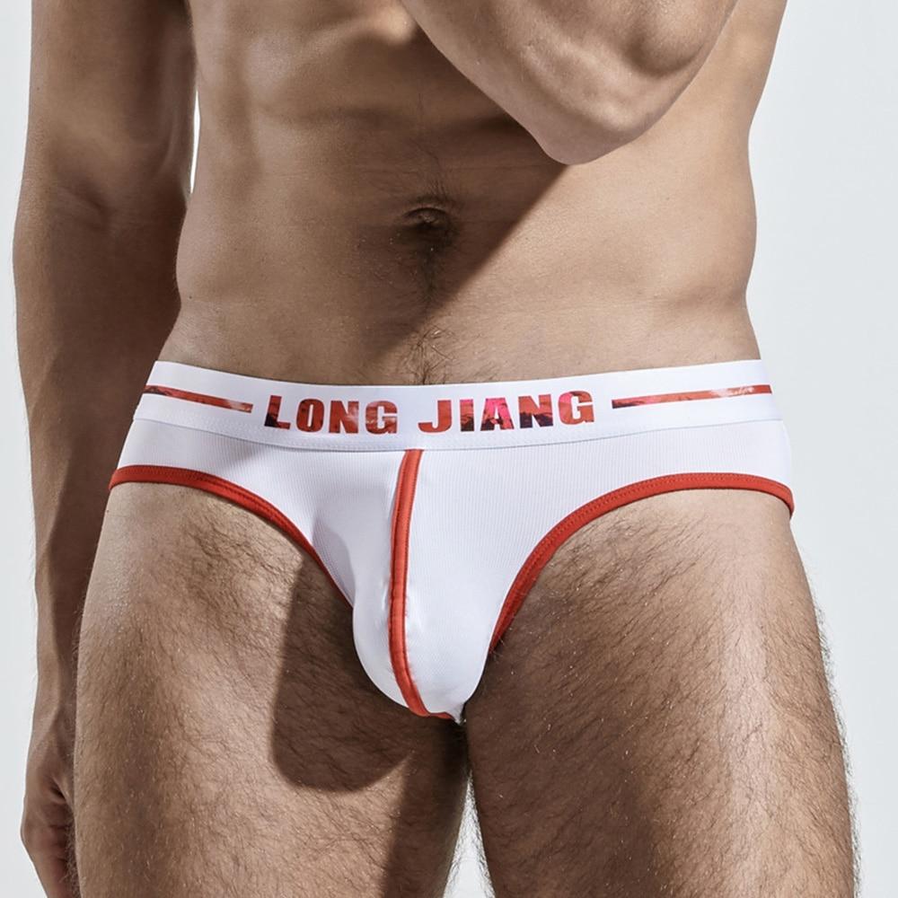 Men's Ice Silk Underwear Ultra-Thin Breathable Mid Waist Briefs Comfortable Cool Letter Men Underpan