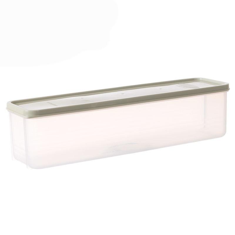 Noodle Storage Box Rectangle Case Lid Transparent Sealed Container 30*8*8.2cm