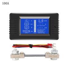 DC 0-200V 0-300A testeur de batterie voltmètre ampèremètre puissance impédance capacité énergie temps mètre 50A/100A/200A/300A batterie moniteur
