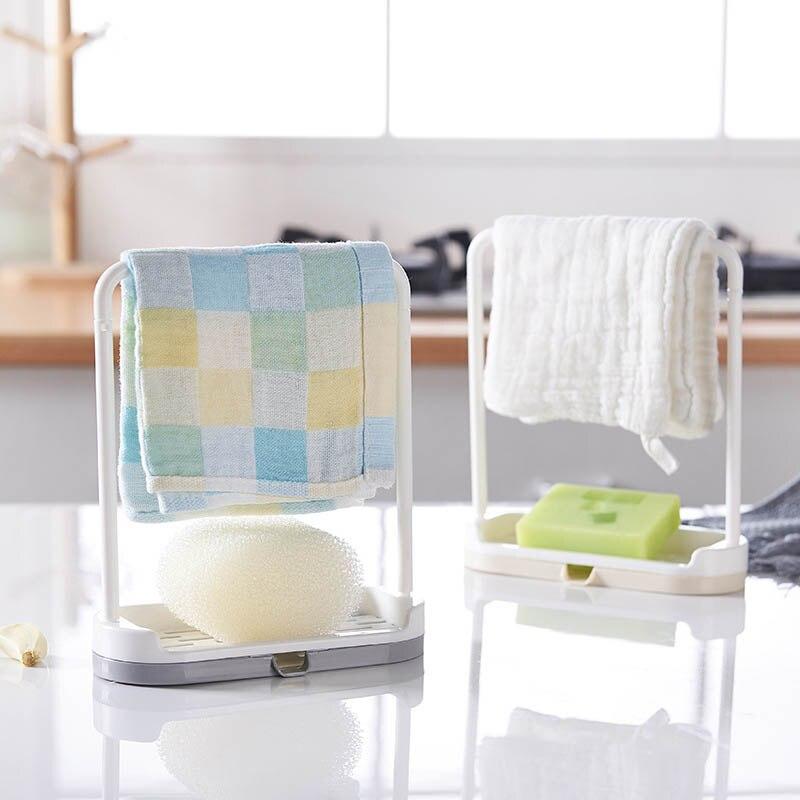 Rag Dishcloth Hanging Holder Towel Sponge Drain Racks Multifunction Plastic Soap Shelf Desktop Organizer Kitchen Storage Rack