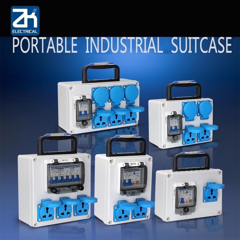 صندوق توزيع كهربائي صغير مقاوم للماء ، 220 فولت ، موقع جوال ، مقبس توصيل ، صندوق توزيع مفتاح محمول ، خارجي