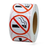 500 pcs wad danger sticker art paper funny no smoking warning decal wholesale superior quality