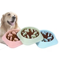 dog slow feeder puppy accessories eating dish bowel prevent obesity supplies anti slip subber stable not running big enough