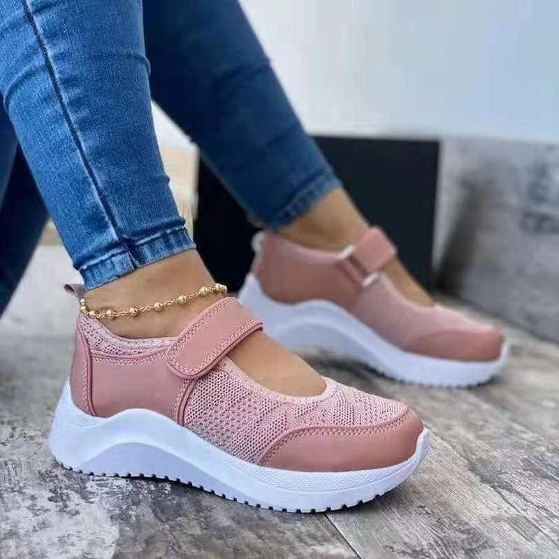 Cloth shoes women's autumn single shoes flat mesh elderly shoes middle-aged and elderly soft-soled non-slip mother shoes