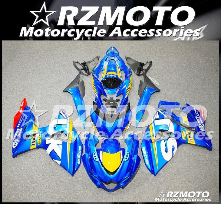 قالب حقن جديد ABS دراجة نارية Fairings عدة صالح لسوزوكي GSX-R1000 K9 L2 09 10 11 12 13 14 15 16 هيكل السيارة مجموعة الأزرق كول