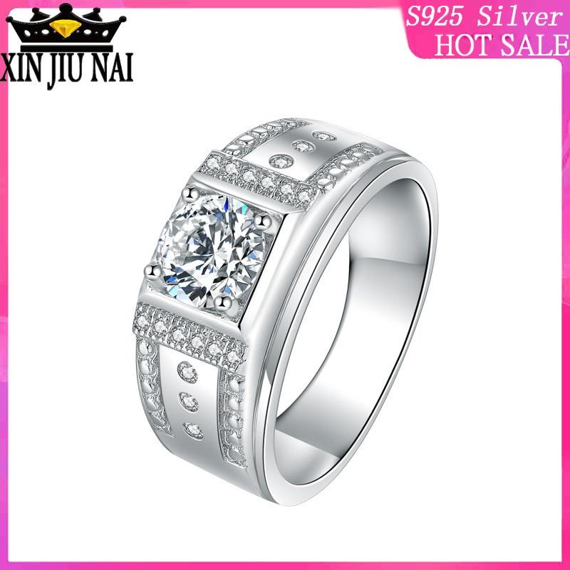 Широкое позолоченное кольцо с алмазной мозаикой 1,25 карата, мужское кольцо из латуни, мужское кольцо с имитацией газа
