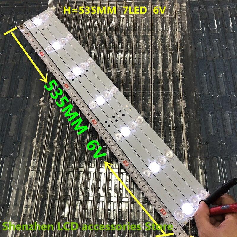 8 pièce/lot LCD TV barre lumineuse LED barre lumineuse universel 32 pouces 55 pouces divers marque pour Skyworth Konka Changhong 100% nouveau