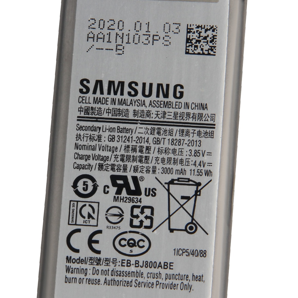 Original Replacement Samsung Battery For Galaxy J6 2018 version A6 On6 SM-A600F J600 EB-BJ800ABE Genuine Battery 3000mAh enlarge