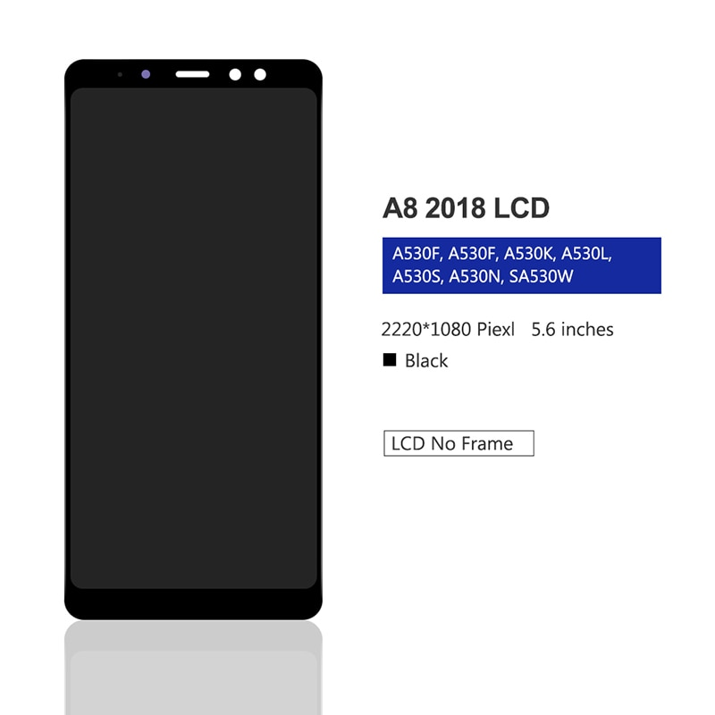 For Samsung Galaxy A8 2018 LCD Display Touch Screen Digitizer Assembly On SM A530F A530 A 5 2018 530F Sm-A530F 100% Test enlarge