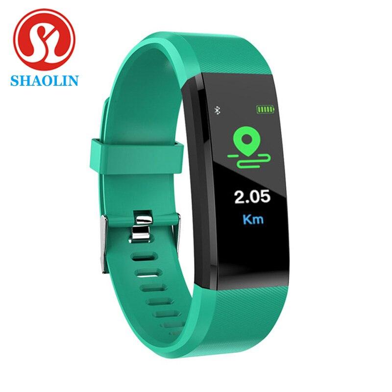 SHAOLIN Bluetooth Smart Bracelet Men Blood Pressure Smart Watch Sports Band Health Sleep Tracker Mot