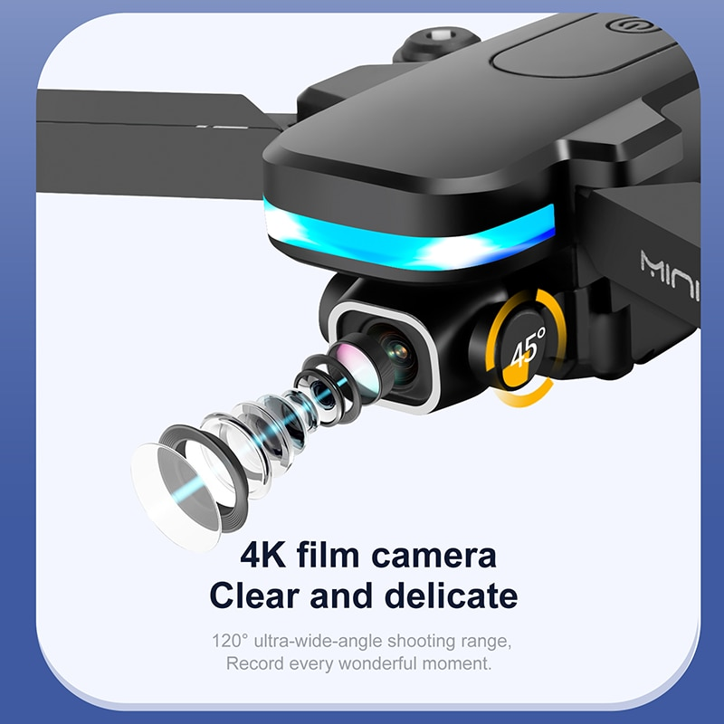 Mini Drone KY910 4k Hd Camera profesional Rc Drones Wifi Fpv Toy Outdoor Rc Quadcopter Fixed height Drones Boy For Toys enlarge