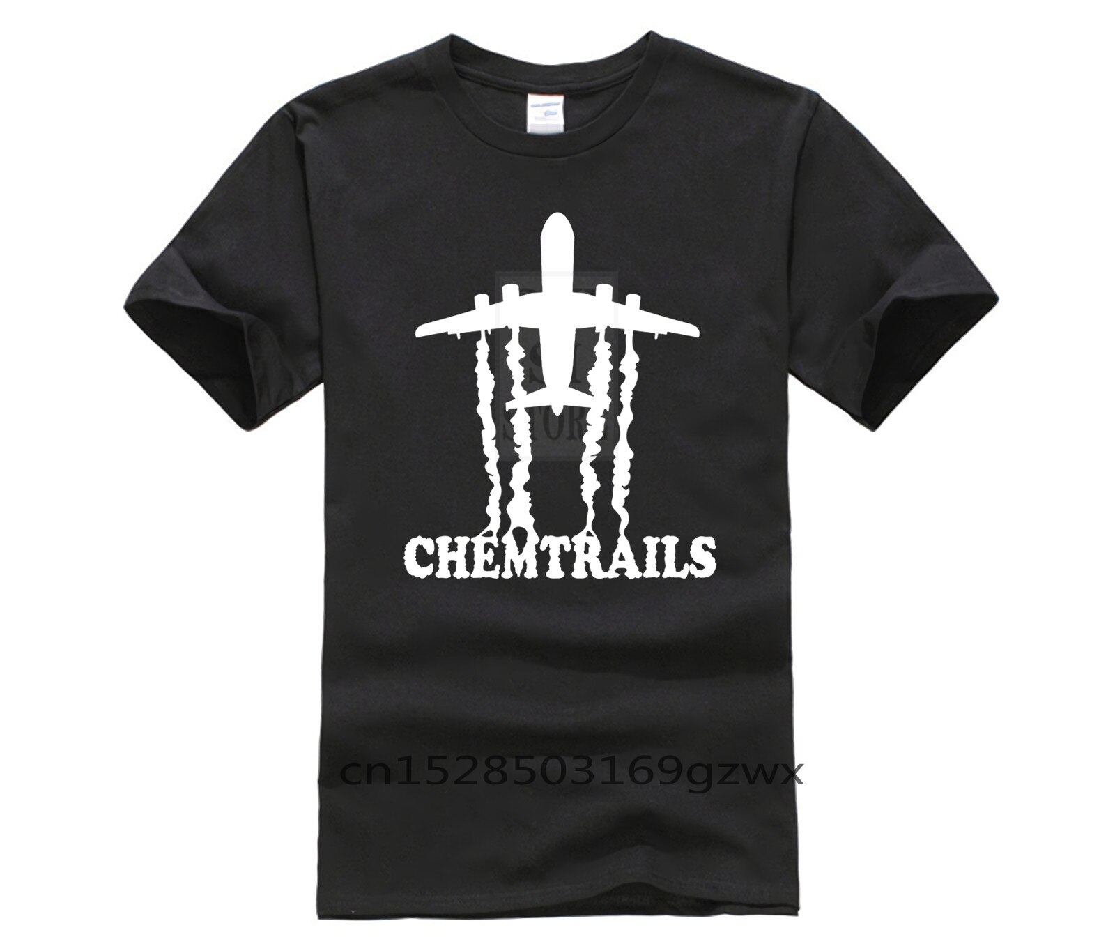 Mans Lustige Hop T-shirt Kurzarm Camisa Kaufen Chemtrails Flugzeug Aktivist Verschwörung Theorie mode T hemd männer