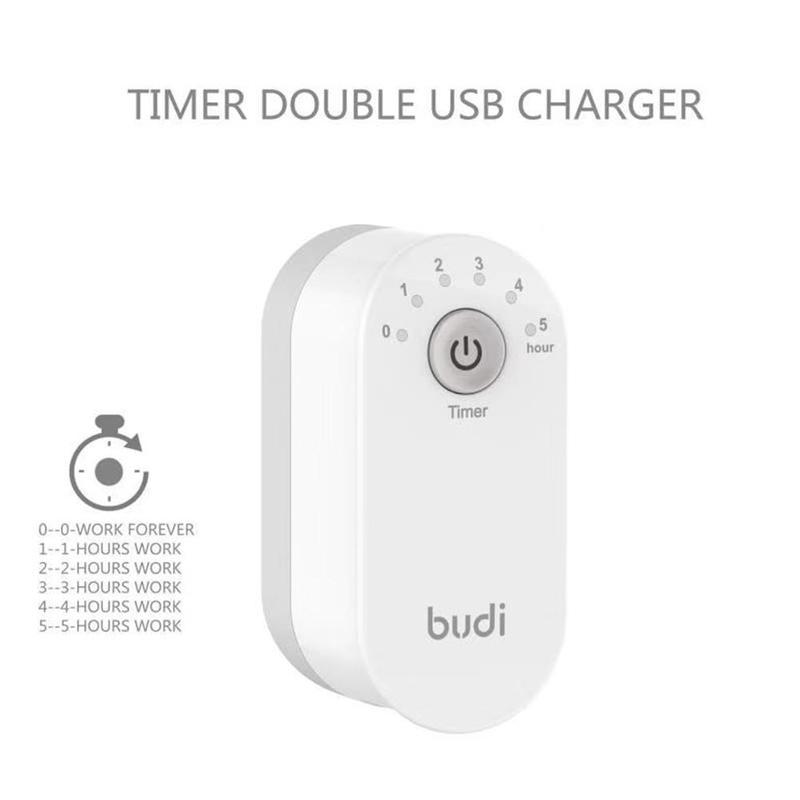 Adaptador de cargador inteligente multifunción 12W 2,4 a 2, cargador temporizador de seguridad USB, carga rápida de 100-240V, enchufe de Reino Unido, enchufe de EE. UU., enchufe de la UE 1 unidad