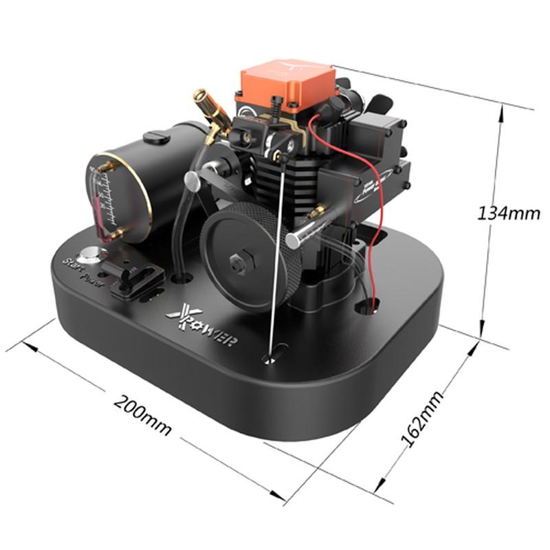 Toyan FS-S100AS 4-stroke methanol engine kit with ESC base upgrade version for 1/10 RC car model