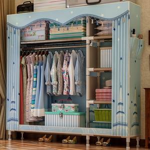 Reinforcement Portable Wardrobe Dustproof Cloth Cabinet Furniture Wardrobe Clothes Organizer органайзер