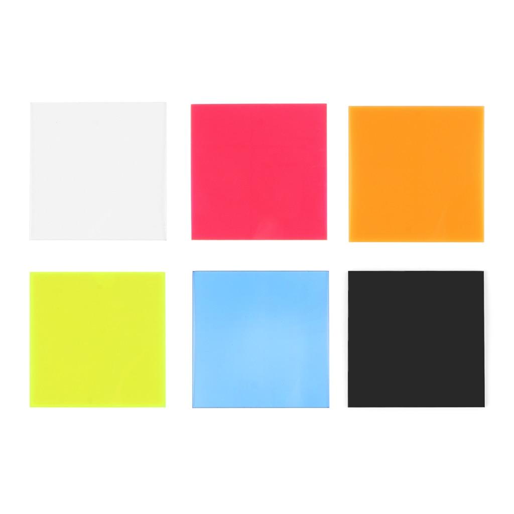 Tablero de plexiglás hoja acrílica de colores 8*8cm DIY juguete accesorios fabricación de modelos