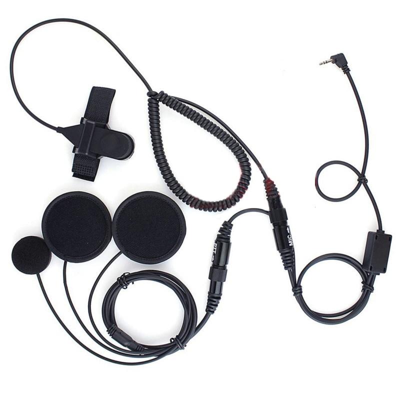 2.5mm Volledige gezicht Close Motorhelm Headset PTT Voor Motorola Draagbare Radio T8550 T9000 T9500 T9550 T9650 T9680 FV500AA
