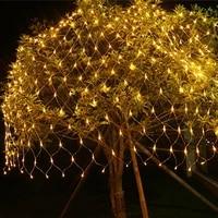 fairy lights christmas lights led garland curtain net mesh string light for new year waterproof outdoor garden christmas decor