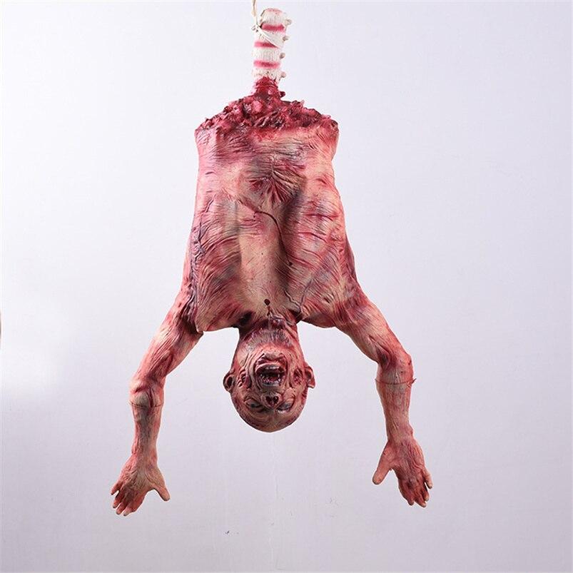 Accesorios de iluminación colgante de Halloween para asustar, terror, Halloween, scabs Bloody Corpse, Latex Corpse Club, suministros para fiestas espeluznantes embrujadas