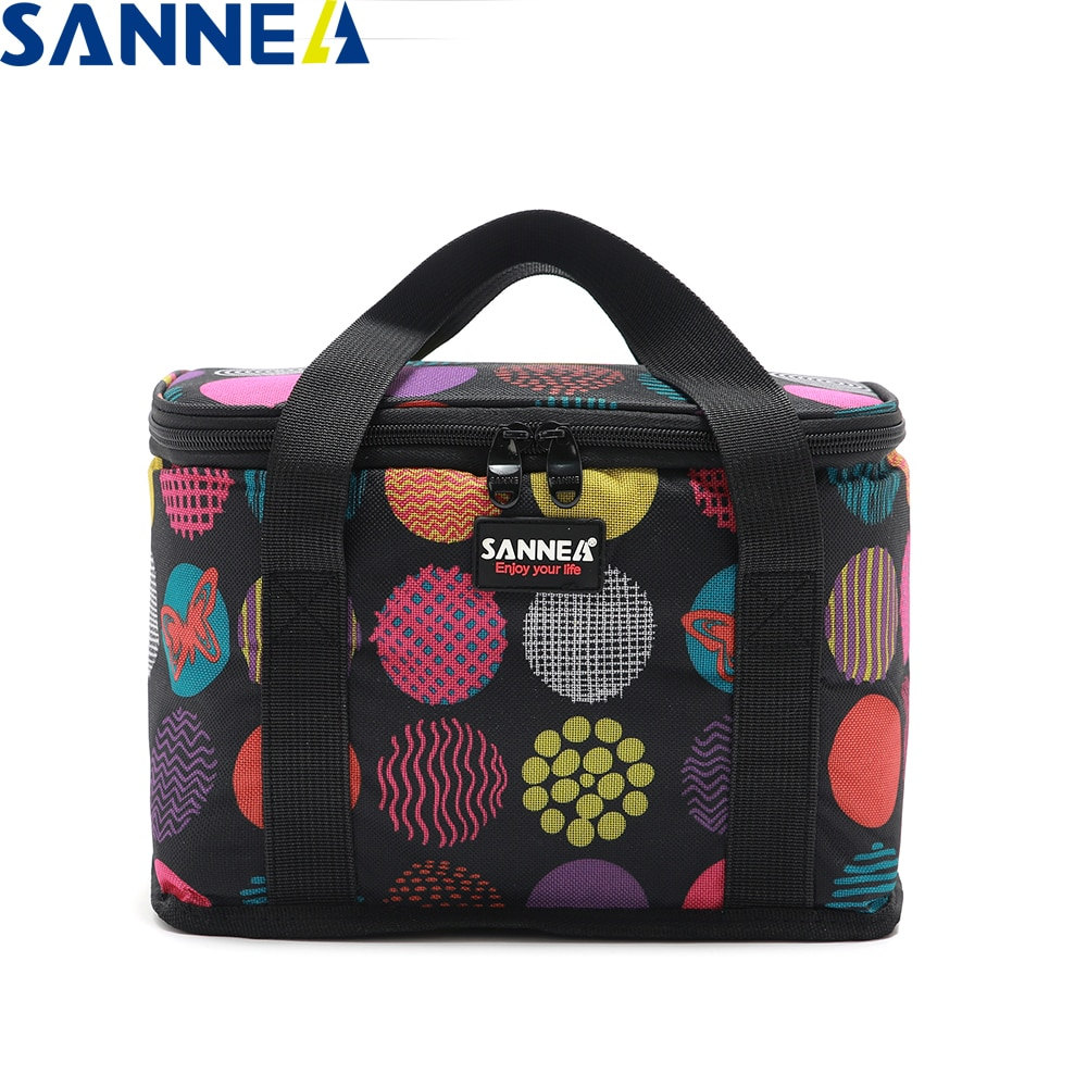 SANNE 9L insulated thermal bag 6 cans 330MLbear cooler waterproof portable ice can carry drink&coke