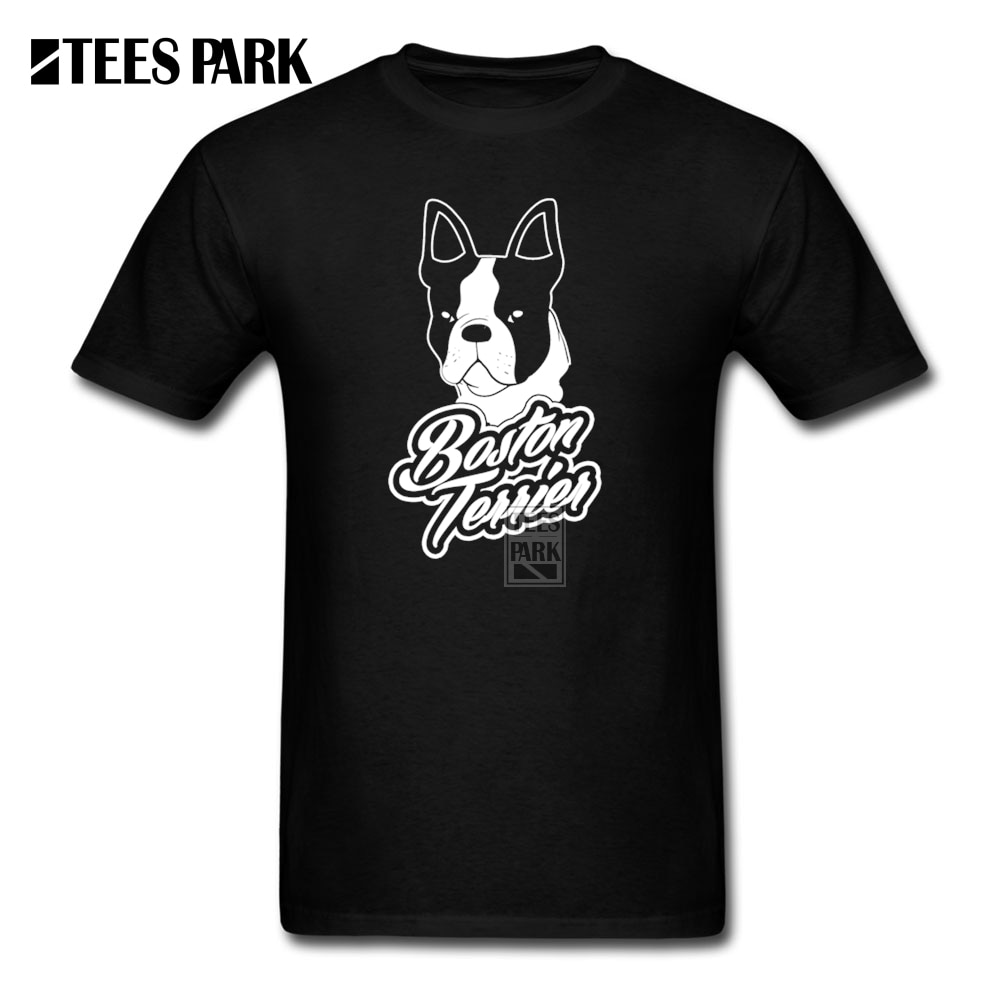 Funky camisetas Boston Bull terrier Homme Camisetas cuello redondo moda 2019 Hombre Camiseta ventas
