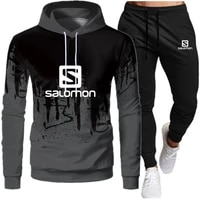 mens hooded sweater with 2021 autumn and winter brand casual sports suits mens sportswear two piecehooded sweaters