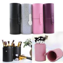 PU Leather Makeup Brush Organizers Box Travel Cosmetic Beauty Pen Nail Polish Holder Make Up Tools Pen Holder Rack