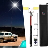 dc12v portable telescopic rod led camping light for outdoor lighting ground garden lamp path home yard