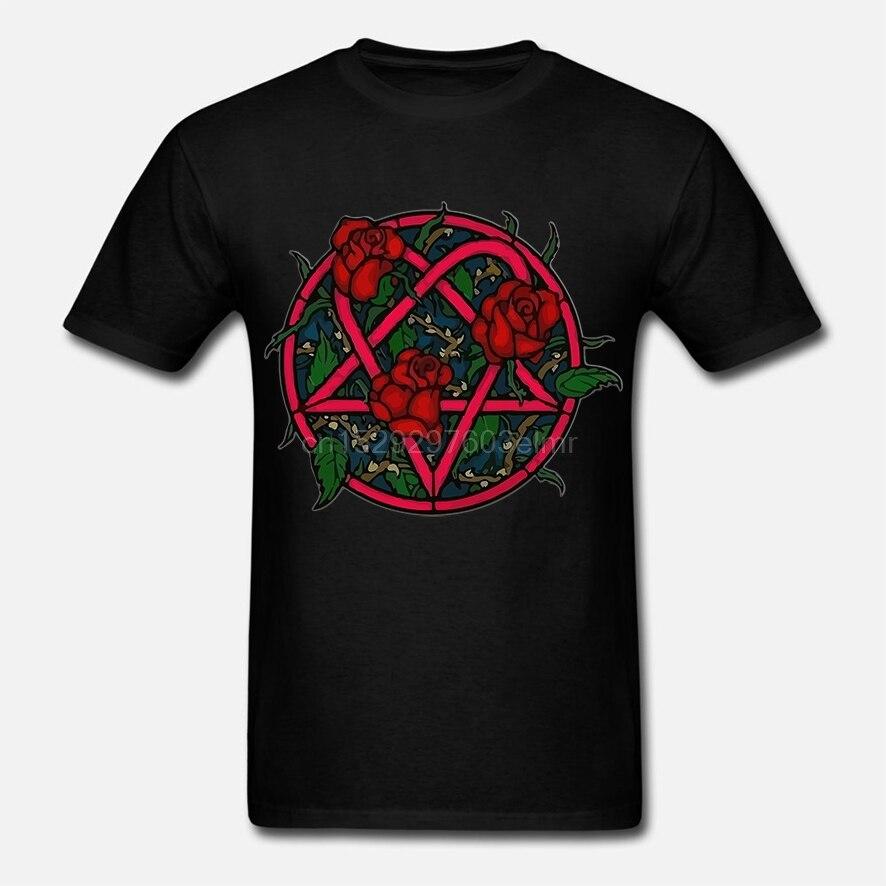 HIM Rose heartgram kobiety czarna koszulka zespół metalowy koszula Rock koszulka zespołu XS-XL