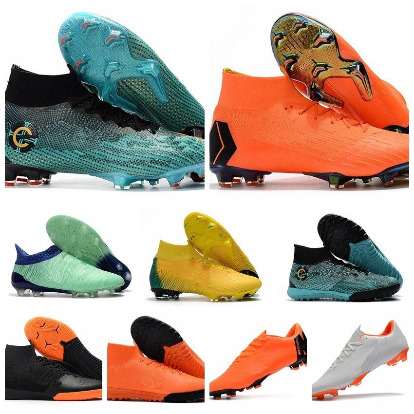 Gran oferta 2020, zapatos de fútbol para hombre FG Superfly V, botas originales para adultos FG, tacos de fútbol Elite 360, superflyx x cr7 US5.5-12