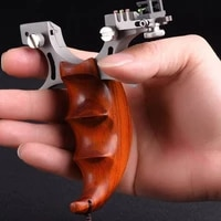 new titanium slingshot sight flat rubber bands wood handles stainless steel outdoor sports new catapult outdoor hunting