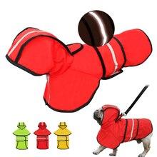Reflective Dog Raincoat Dog Rain Jacket Waterproof Pet Coat Hoodies Jumpsuit For Small Medium Large Dogs French Bulldog S-2XL